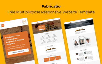 Fabricatio - Free Multipurpose Responsive Website Template