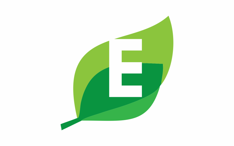 Initial E is Green Logo Template