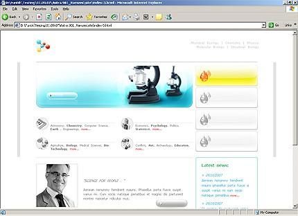 Page d'accueil HTML du kit graphique #17608
