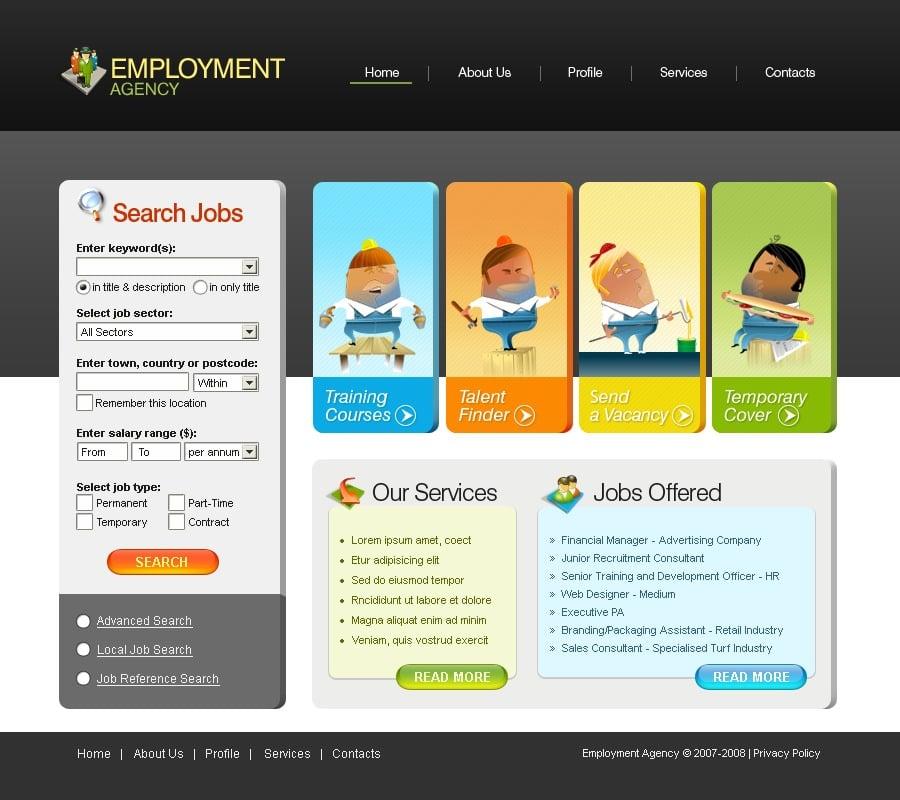 Job Portal Website Template #17624