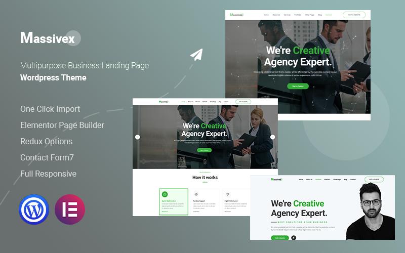 Massivex - Multipurpose Business WordPress Landing Page