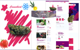 Cannabical Recreational Cannabis React Template