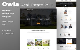Owla Estate - Real Estate PSD Template