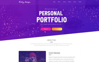 Vicky –Portfolio Landing Page Adobe XD PSD Template