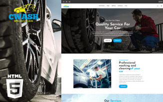 CWash - Car Washing HTML Website Template