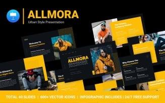 FREE Allmora Urban Style Professional Presentation Keynote Template