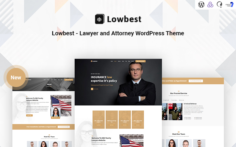 Lowbest - Responsief WordPress-thema voor advocaten en advocaten