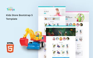 Toyqo - Kids Store Bootstrap 5 Website Template