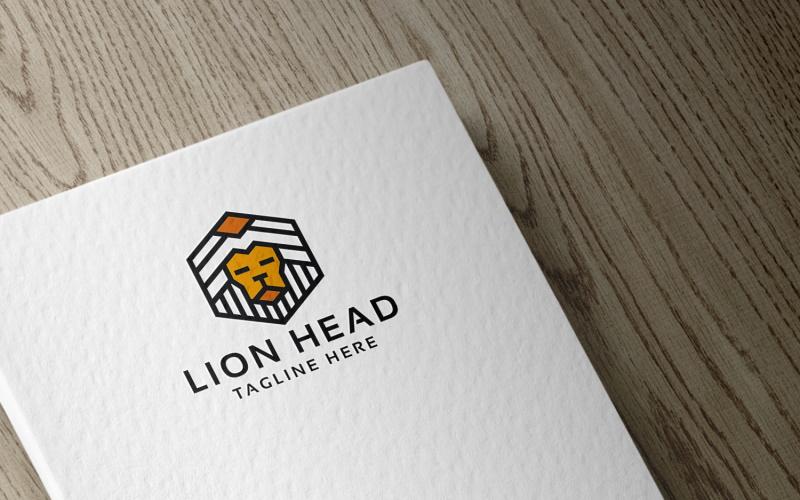 Lion Head Logo sjabloon