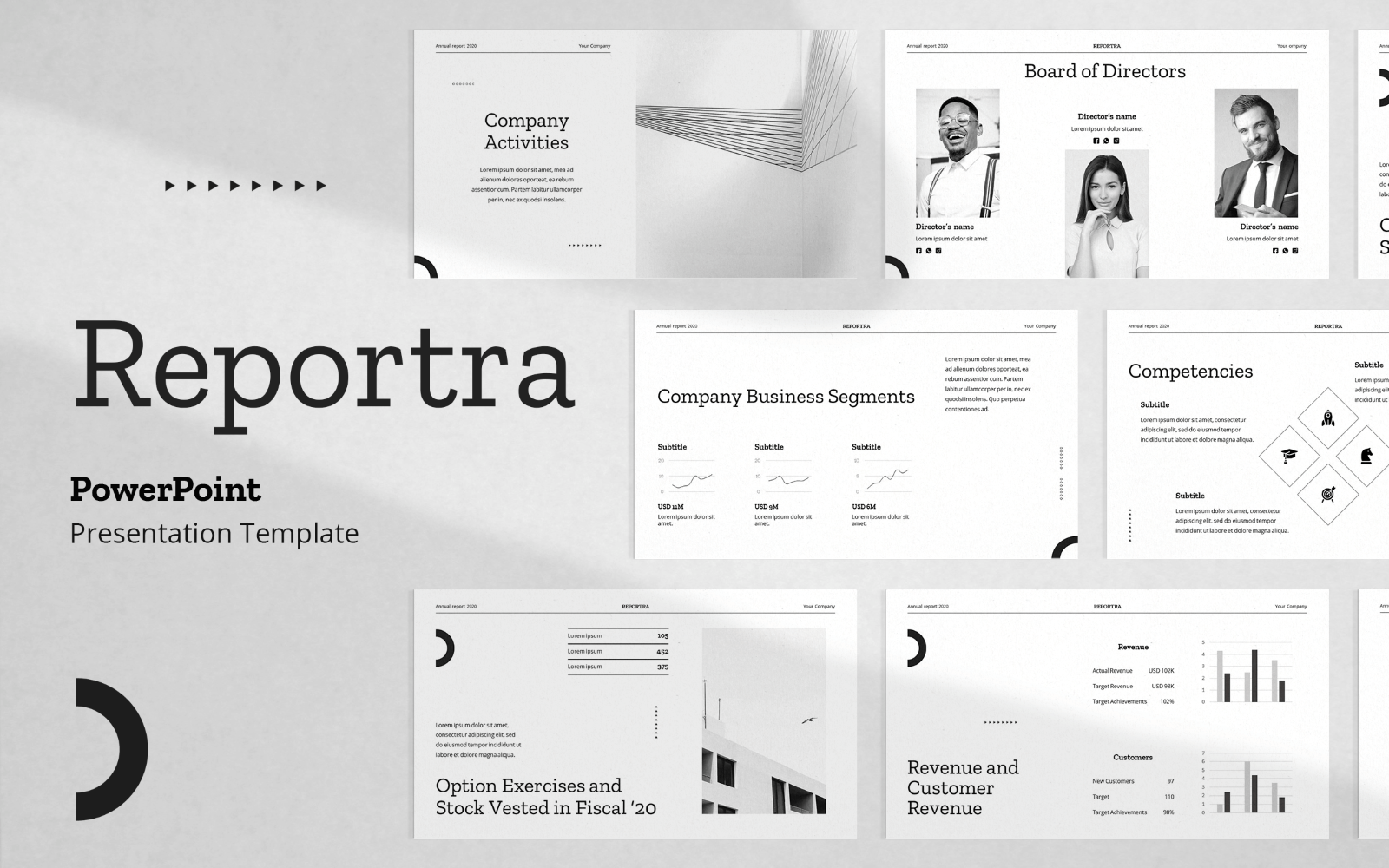 Reportra - Annual Report PowerPoint Presentation Template