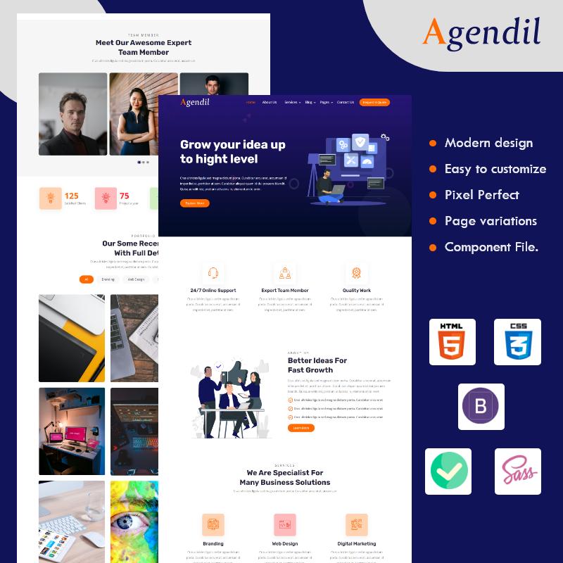 Agendil - Corporate Business HTML Website template