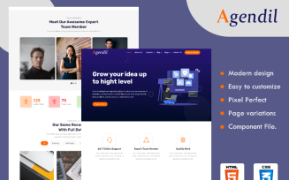 Agendil - Corporate Business HTML Website template