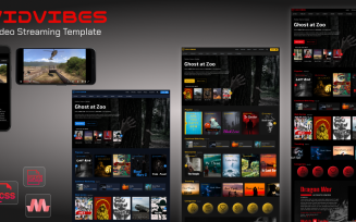 VIDVIBES Video streaming HTML-SASS Template for Movies & Series