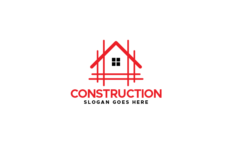 Bouw Home Logo sjabloon