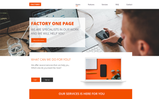 Factory –Industrial Landing Page Adobe XD PSD Template