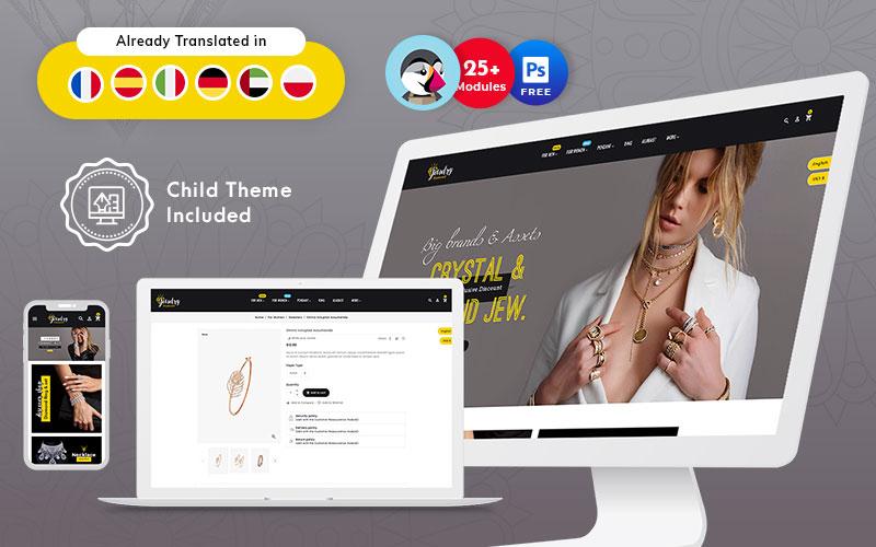 Responsive PrestaShop-thema voor sieraden