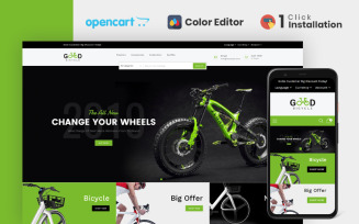 Good Bicycle Store OpenCart Template