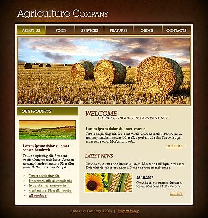 Realizare site companie agricultura