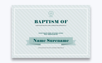 Free Classic Baptism Certificate Template