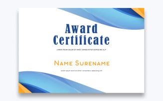 Free Clean Award Certificate Template