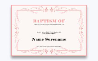 Free Modern Baptism Certificate Template