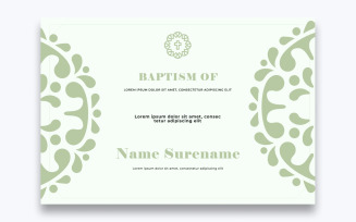 Free Stylish Baptism Certificate Template