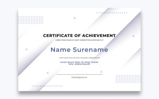 Free Stylish Certificate of Achievement Template