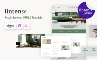 Lintense - Home Remodeling Company Landing Page Template