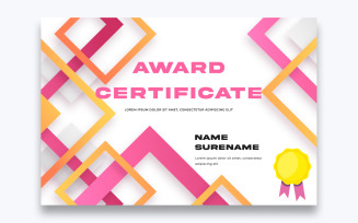 Modern Free Award Certificate Template
