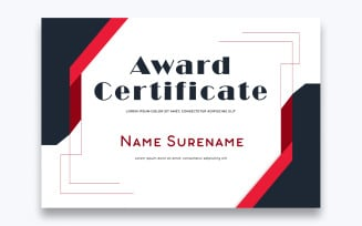 Stylish Free Award Certificate Template