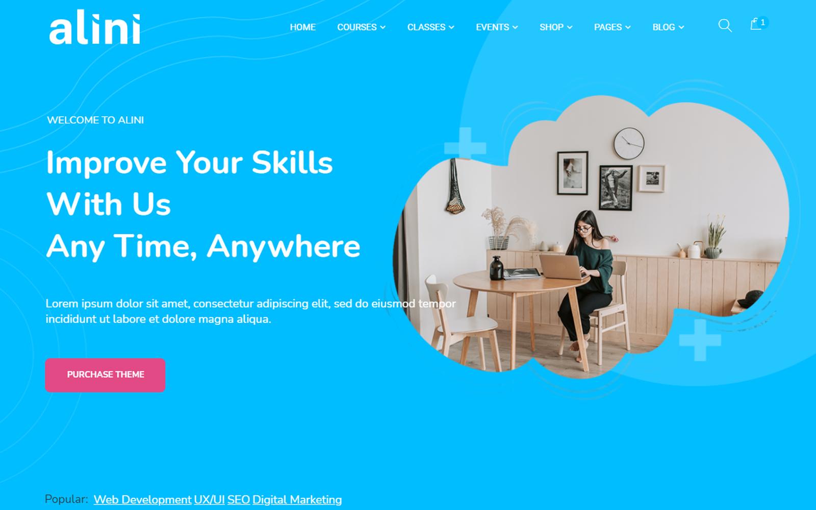 Alini - E-learning & Training LMS WordPress Theme