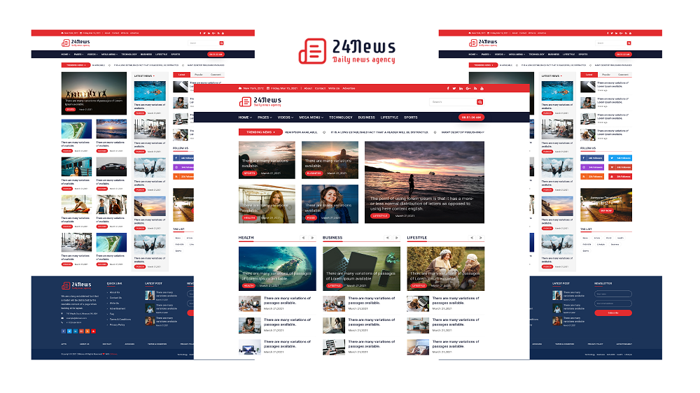 24News - News Agency Bootstrap & Html5 Template
