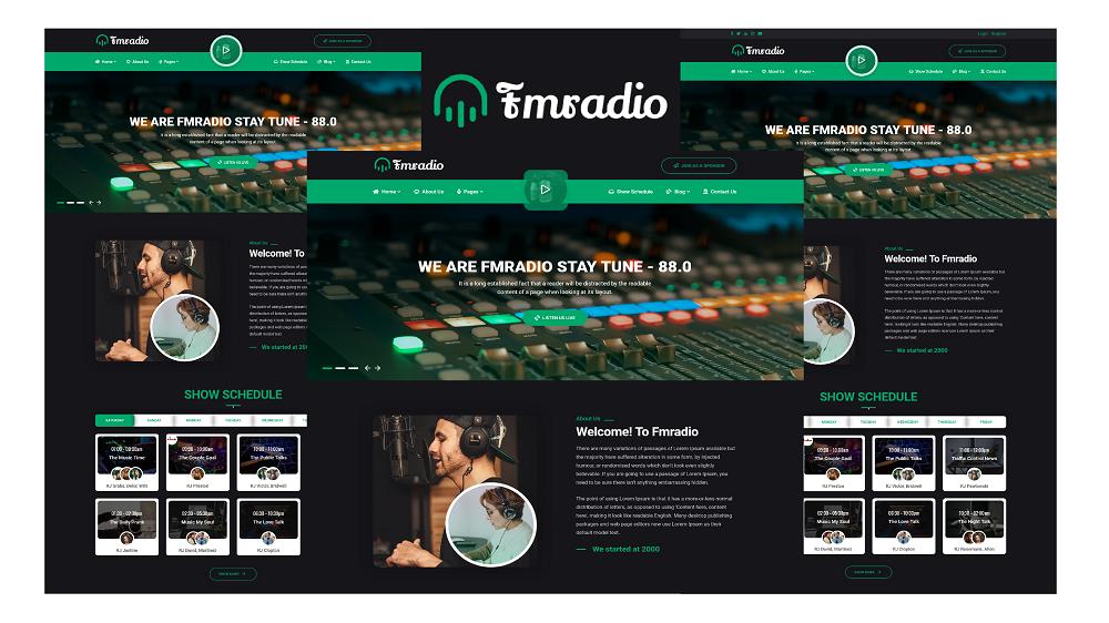 Fmradio - FM Radio Bootstrap HTML5 Template