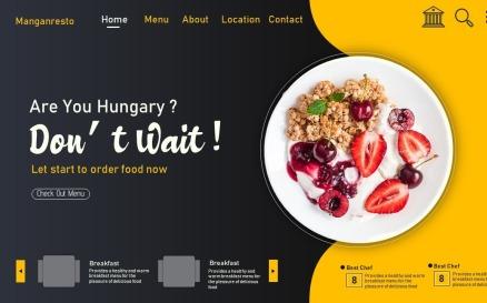 Food-Modern Design PowerPoint template PowerPoint Template