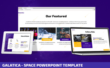Galatica - Space Powerpoint Template PowerPoint Template