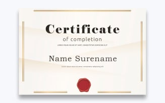 Classic Free Certificate of Completion Template