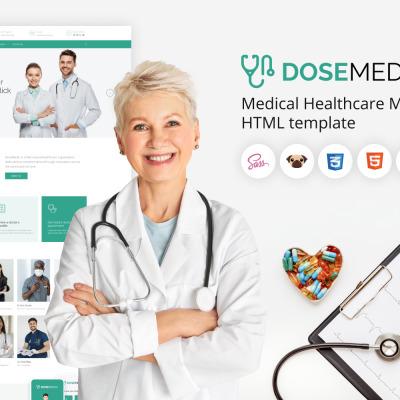 DoseMedic - HTML5 Medical Healthcare Template #177450
