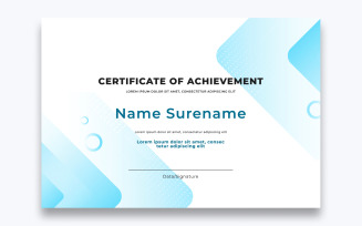 Modern Free Certificate of Achievement Template