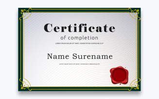 Modern Free Certificate of Completion Template