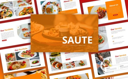 Saute - Culinary Multipurpose PowerPoint Template
