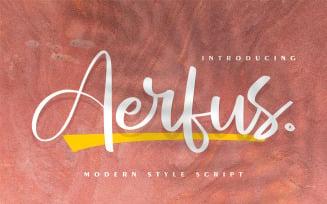 Aerfus | Modern Style Script Fonts