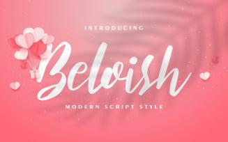 Beloish | Modern Script Style Font