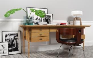 Bureau 1406 furniture set 3D Model