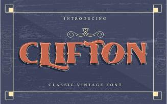 Clifton | Classic Vintage Font