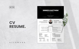 CV Resume Template Vol 18 Printable Resume Templates