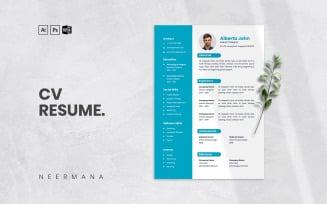 CV Resume Vol 17 Printable Resume Templates