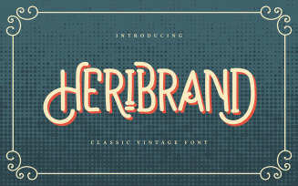 Heribrand | Classic Vintage Font