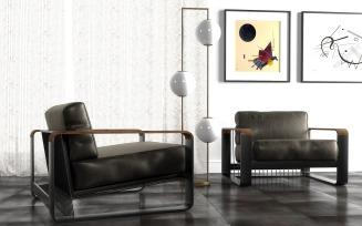 Noda Lounge Armchair 3D Model