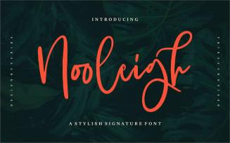 Nooleigh | A Stylish Signature Font