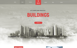 Quick Build – Building Landing Page Adobe XD PSD Template